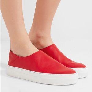 Tibi Charlie Leather Slip on sneakers